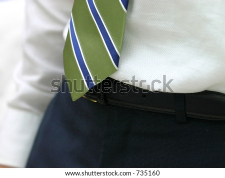 Bottom of neck-tie - stock photo
