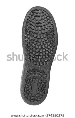Bottom of shoes isolated on white background - stock photo