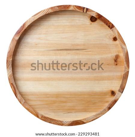 bottom of wooden bucket - stock photo