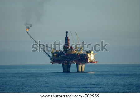 Bottom supported offshore oilrig