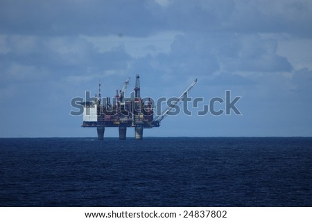 Bottom Supported Oil Rig