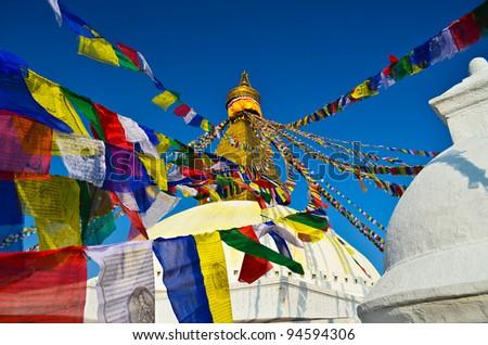 boudhanath,kathmandu,nepal - stock photo