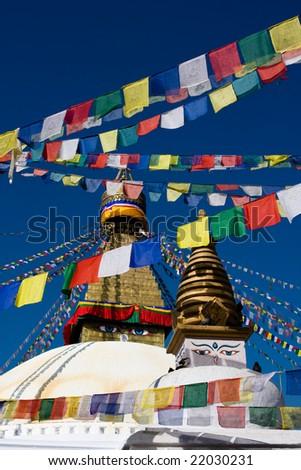 Boudhanath Stupa in Kathmandu Nepal - stock photo