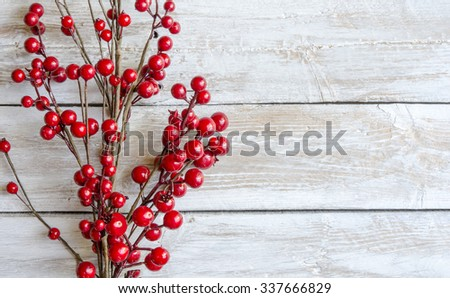 Boughs of holly for Christmas decoration - stock photo
