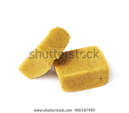 Bouillon stock broth cube isolated