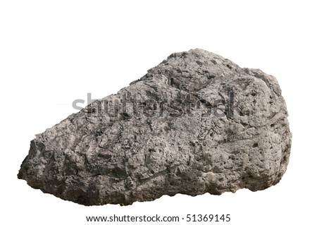 Boulder isolated on white