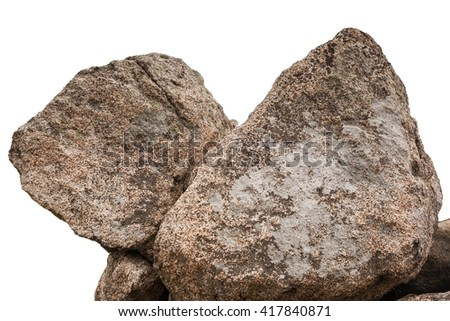Boulders in Shenandoah National Park isolated on a white background - stock photo