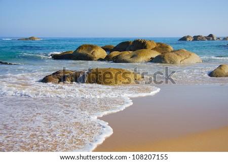 Boulders located at Clinton Rocks, Victorian coastline, Australia. - stock photo