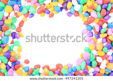 boulders with plastic colors as nice background