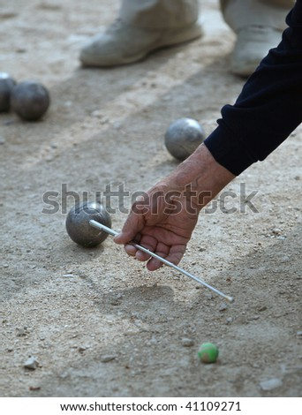 Boules (Petanque), French riviera - stock photo