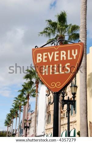 Boulevard in Beverly Hills, California - stock photo