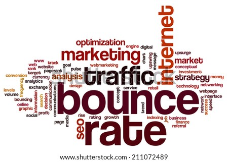 Bounce rate concept word cloud background - stock photo