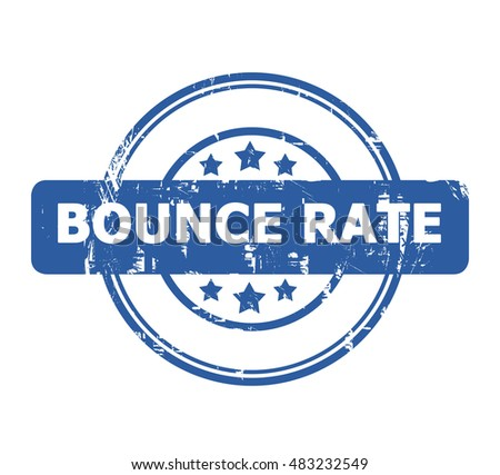 Bounce Rate stamp with stars isolated on a white background.