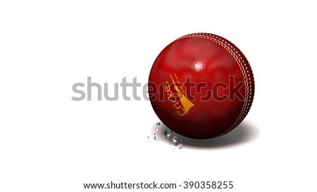 Bouncing cricket ball - stock photo