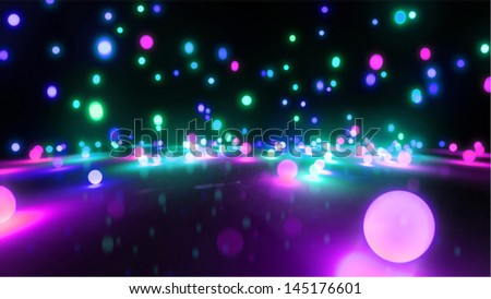 Bouncing light balls background can be use for any fashion theme and graphic design . - stock photo