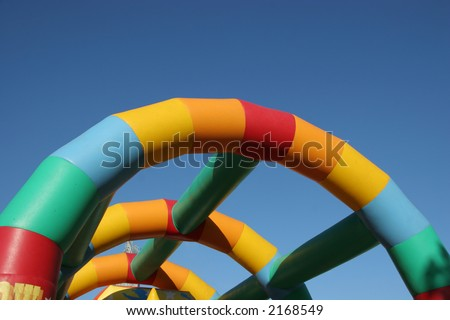 Bouncy castle - stock photo