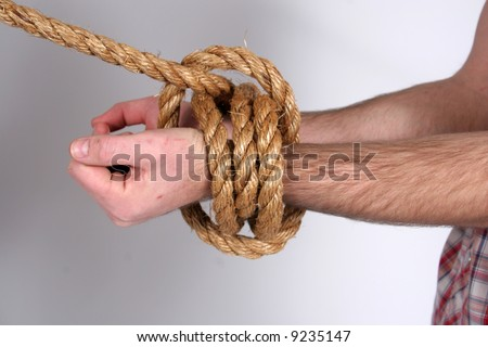 Bound at the wrist - stock photo