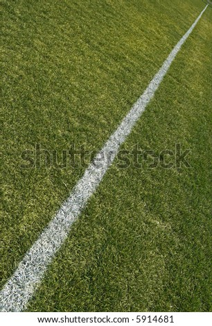 Boundary line of a soccer/football playing field. - stock photo