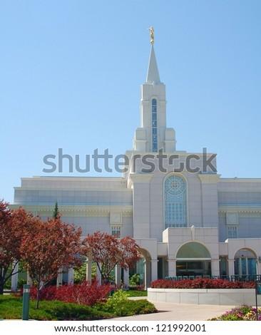Bountiful, Utah Mormon Temple - stock photo