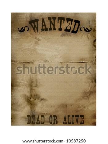 Bounty Hunter Notice Paper - stock photo