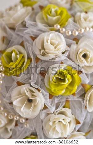 bouquet ball  decoration on wedding celebration - stock photo