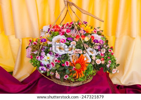 bouquet in traditional baskets Thailand style