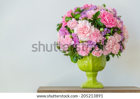 Bouquet in vase - stock photo