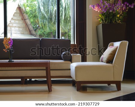 Bouquet living room - stock photo