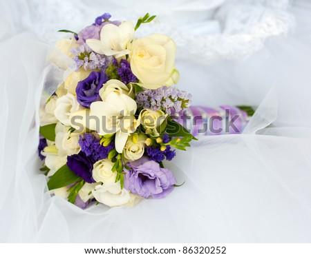 bouquet of bride - stock photo