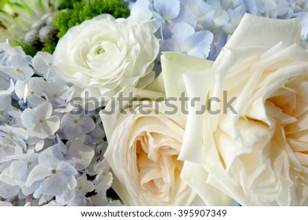 Bouquet of flowers isolated  - stock photo
