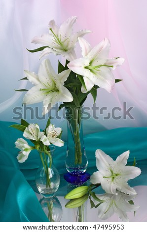 Bouquet of lilies - stock photo
