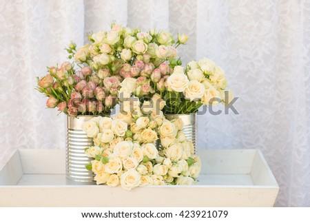 Bouquet of mini roses  - stock photo