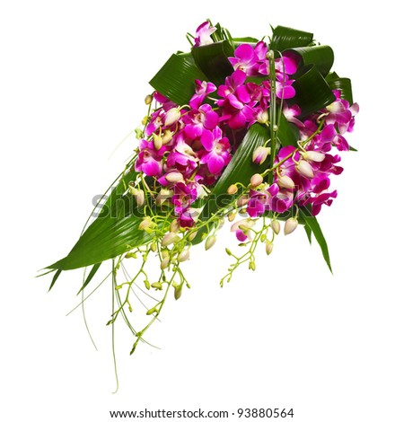 bouquet of orchids - stock photo