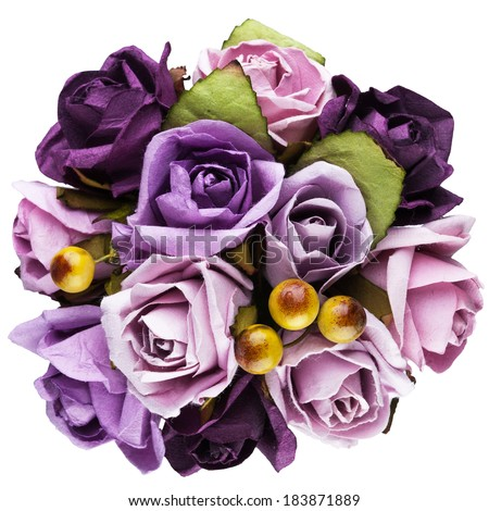 Bouquet Top View Top View Stock Photo