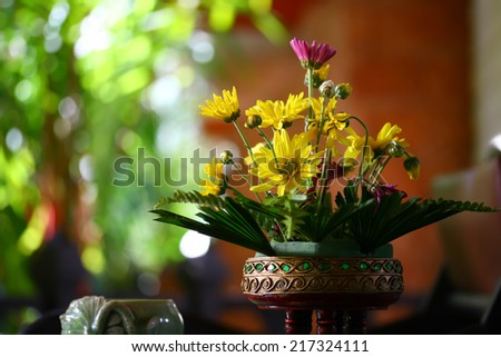Bouquet of simple flowers - stock photo