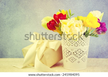 Bouquet of spring flowers. - stock photo