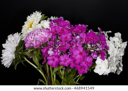 bouquet on a black background