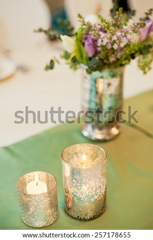 bouquet with flowers and artichoke - stock photo