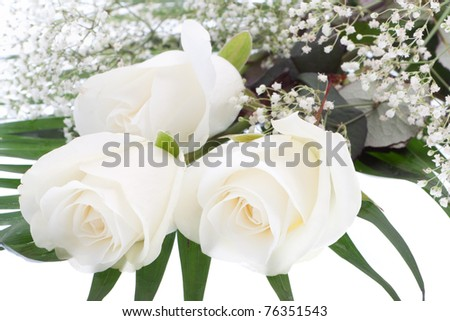 Bouquet with white roses