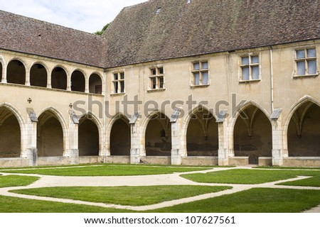 Bourg-en-Bresse (Ain, Rhone,-Alpes, France) - Ancient church of Brou: cloister