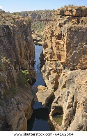 Bourke's Luck Potholes, Blyde River - South Africa - stock photo