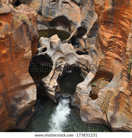 Bourkes Luck Potholes, in Mpumalanga, South Africa  - stock photo