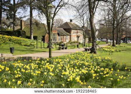 bourneville quaker suburb of birmingham - stock photo
