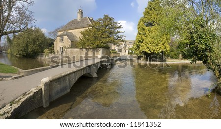 bourton on the water the cotswolds gloucestershire england