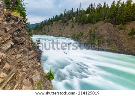 Bow Falls at the banff national park canada - stock photo