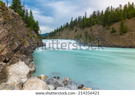 Bow falls in Banff Canada  - stock photo