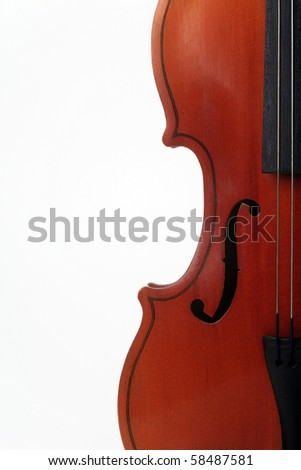 Bow instrument on a white background - stock photo
