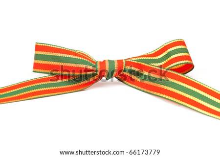 bow isolated on white - stock photo