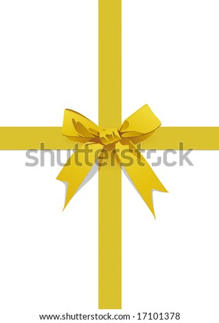 bow-knot in yellow satin