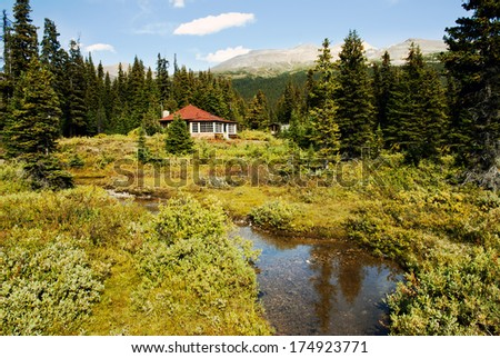 Bow Lake , Banff National Park, Alberta, Canada - stock photo